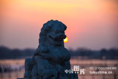 北京颐和园冬日风光
