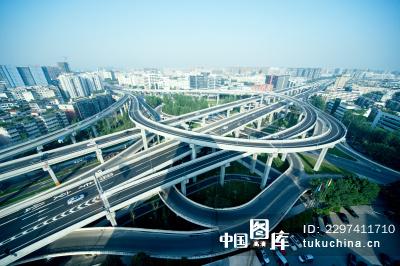 城市高架矢量图