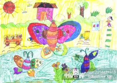 儿童画 蝴蝶 图片